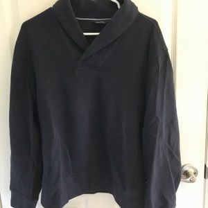 Men's Navy Blue Pull Over with Button